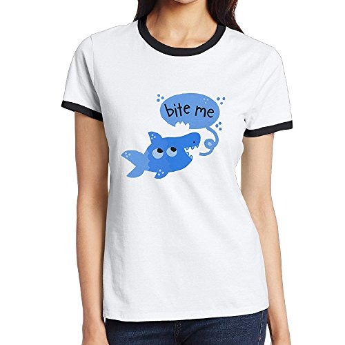 Price comparison product image Bite Me Shark Women's Fashion T Shirt T Shirt
