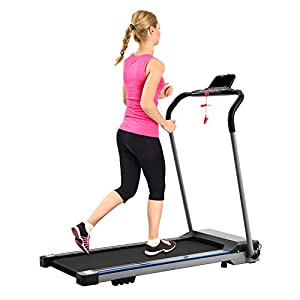 Well-Being-Matters 41twK1YTe2L._SS300_ FYC Folding Treadmill for Home Compact Electric Treadmill for Running and Walking Foldable Slim Running Machine Portable…