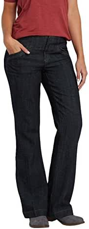 Maurices Women's Denim Trouser With Wide Waistband