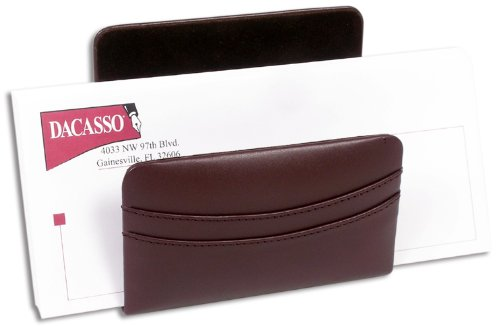 Dacasso Chocolate Brown Leather Letter Holder