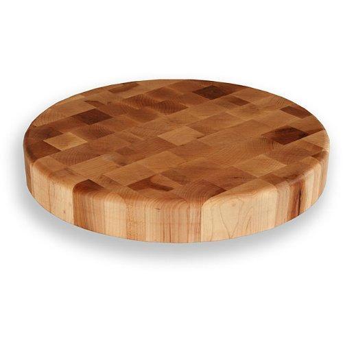(Maple End Grain 15-inch Round Chopping Block)