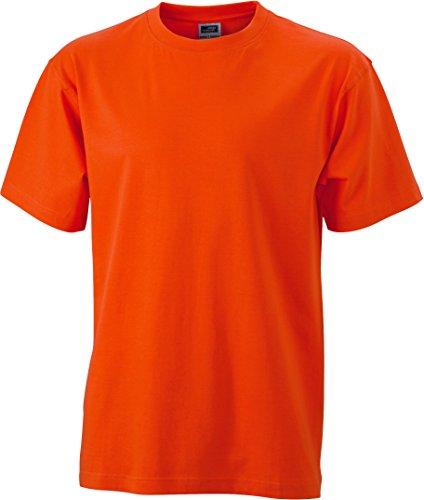 de Talla Camiseta Camiseta Naranja Round oscuro S corta heavy 5xl Cuello t Single jersey Hombre Estampado redondo manga rO8gr
