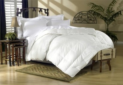 900 Thread Count Baffle Box Medium Weight GOOSE DOWN Comforter, All Year, White, ()