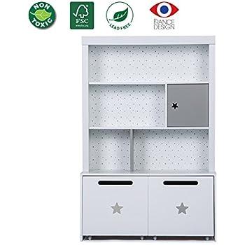 Amazon Com Sauder Pogo Bookcase Footboard Soft White