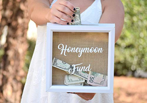 (Honeymoon Gift - Honeymoon Fund Wedding Sign - Honeymoon Fund Box - Honeymoon Gifts - Wedding Gift Money Box Rustic Wooden Honeymoon Fund Box Money Holder)