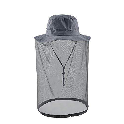 - Lenikis Net hat Safari Hat Head net Outdoor Sun Protection Hats Gray