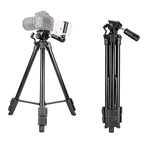 Kamisafe 57 Inch Digital SLR Camera Aluminum Travel Portable Tripod with Carry Bag by Kamisafe