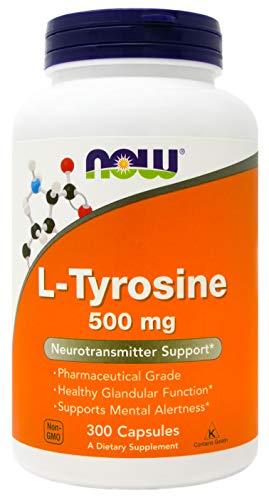 (Now L-Tyrosine 500mg, 300 Capsules)