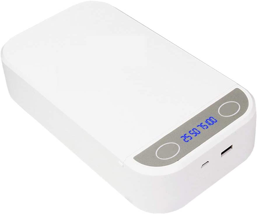 UVの携帯の消毒、ポータブルスマート使い捨ての殺菌、アロマ機能消毒、USBでの充電とクリーナーを隠します,白