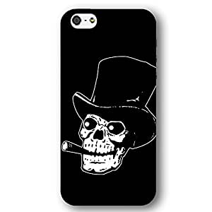 Skull with Top Hat and Cigar For HTC One M7 Case Cover lim Phone Case