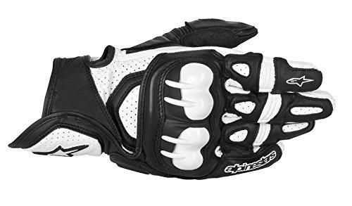 Alpinestars GPX Leather Gloves - Medium/Black/White