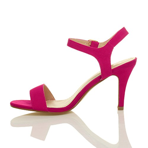 There Heel Women Fuchsia Suede Pink Shoes Barely Ajvani Sandals High Size I4qEg