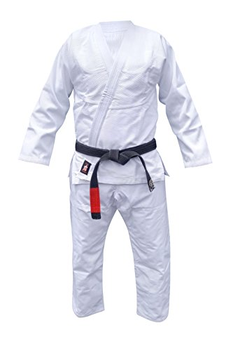 Your Jiu Jitsu Gear Brazilian Jiu Jitsu Premium Uniform A3 White FREE BJJ White Belt