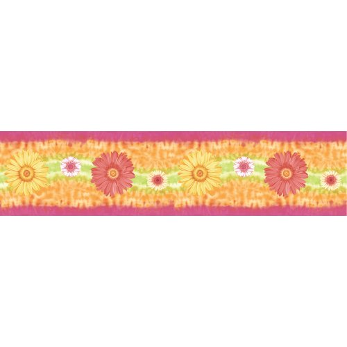 Blue Mountain Wallcoverings SR129406 Just for Kids Gerber Self-Stick Daisy Wall (Gerber Daisy Border)