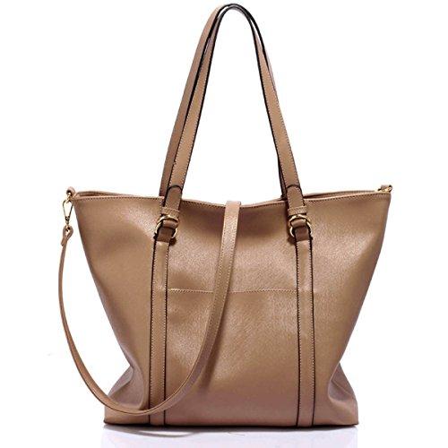 Xardi Londra grande in finta pelle con doppia maniglia da donna, borse a tracolla Hobo College donne borsetta Taupe