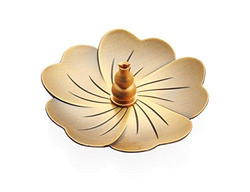 Plate Incense Burner - Incense Burner,Bronze,Zen Buddhist Incense Burner (Gourd Type, Brass Incense Burner)