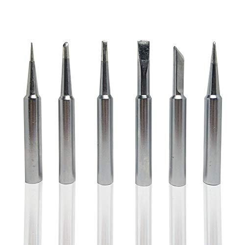6PCS Soldering Tips for Weller ST Series Tip Replace Weller ST7 WLC100,SP40L / SP40N and WP25, WP30, WP35 Irons Tips