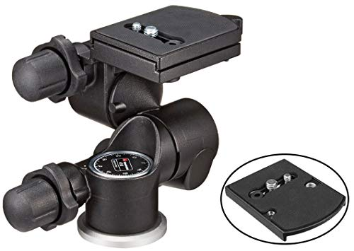 - Manfrotto 410 Junior Geared Tripod Head with Quick Release and a Bonus Ivation Quick Release Plate