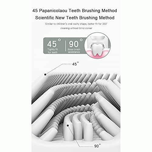 Yuanl Kids U-Shaped Toothbrush All Rounded Children U Shape Toothbrush Food Grade Soft Silicone Brush Head Kids Toothbrushes 360° Oral Teeth Cleaning Design for Children Kids Toddler 0-12 Years Old