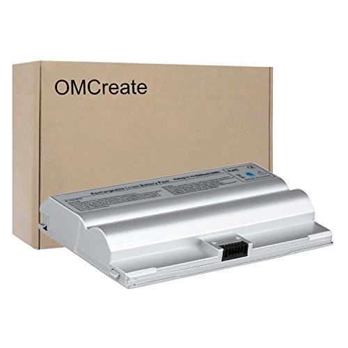 Omcreate New Laptop Battery For Sony Vaio Vgc Lb15 Vgn Fz Series  Fits P N Vgp Bps8 Vgn Fz70b Fz50b Fz90s Vgp Bpl8 Vgp Bps8a   12 Months Warranty  6 Cell 5200Mah 58Wh  Silver