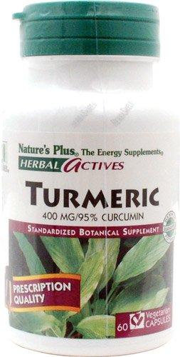 Nature's Plus Herbal Actives Turmeric - 400 mg - 60 Vegetarian Capsules - 2pc