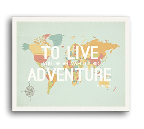 Children Inspire Design To Live World Map Wall Art Print, 24-Inch by 18-Inch by Children Inspire Design