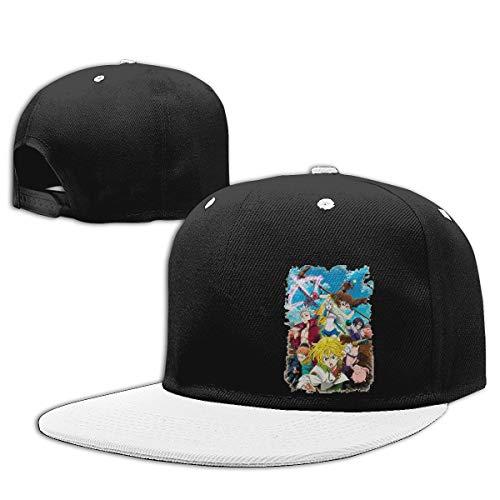 LEILEer 7 Deadly Sins Unisex Contrast Hip Hop Baseball Cap White ()