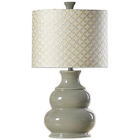 Coventry Juliette Table Lamp In Cool Grey 3 Way Switch 100 Watt