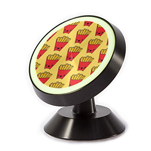 Car Phone Mount Holder Red French Fries 360¡ã Rotation Magnetic Car Phone Holder Universal with Super Strong Magnet