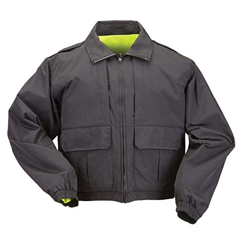 5.11 Tactical #48095 Reversible High Vis Duty Jacket (Black, X-Large)