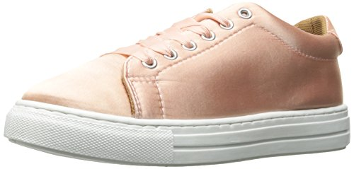 Pink Satin Shoes (Qupid Women's Reba-161c Fashion Sneaker, Blush Satin, 8 M US)