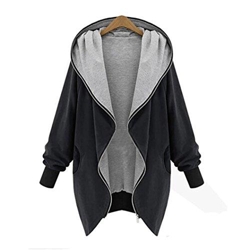 ◕‿◕ Toponly Womens Zipper Hoodie Kapuzen Jacket Parka Trench Coat Windbreaker