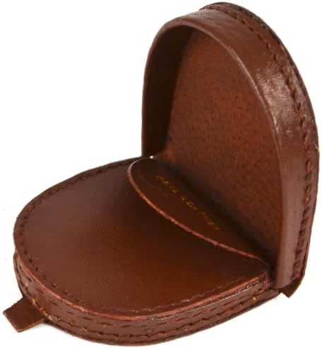 Real Leather Semi Round Money Tray Purse