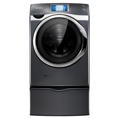 Samsung WF457ARGSGR 4.5 Cu. Ft. Onyx Stackable With Steam Cycle Front Load Washer - Energy Star