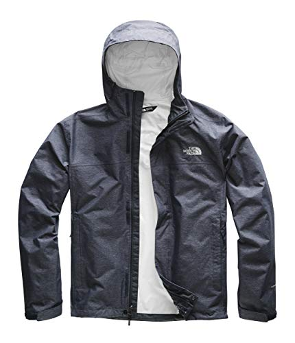 (The North Face Men's Venture 2 Jacket, Urban Navy Heather/Mid Grey,)
