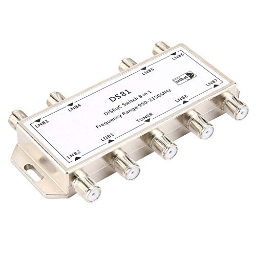 GST-8101 8 in 1 Satellite Signal DiSEqC Switch LNB Receiver Multiswitch Wholesale ()