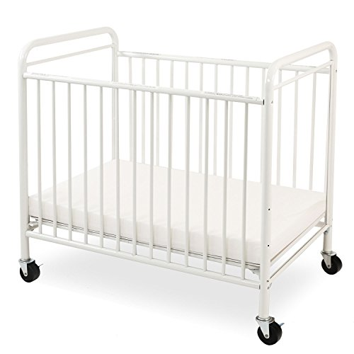 LA Baby The Condo Metal Evacuation Window Crib, White