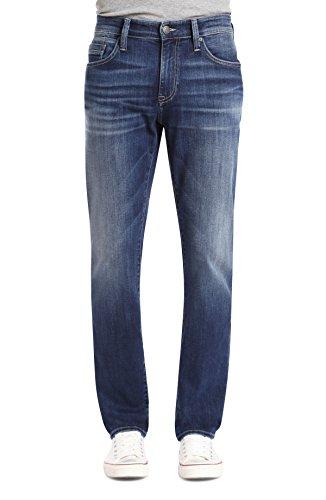 Jeans Mavi Worn In (Mavi Jeans Men's Marcus Regular Rise Slim Straight Leg in Dark Blue Williamsburg Dark Blue Williamsburg 32 30)