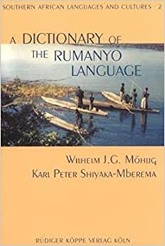 A Dictionary of the Rumanyo Language including a grammatical sketch