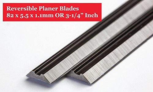 """3-1/4"""" Professional TCT planer blades for Bosch, B&D, Craftsman, DeWalt, Hitachi, Ryobi, and most Hand-Held Planer replacement for POWERTEC"""