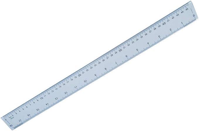 Hainenko 50 cm regla de plástico inastillable (Pack de 1): Amazon.es: Oficina y papelería