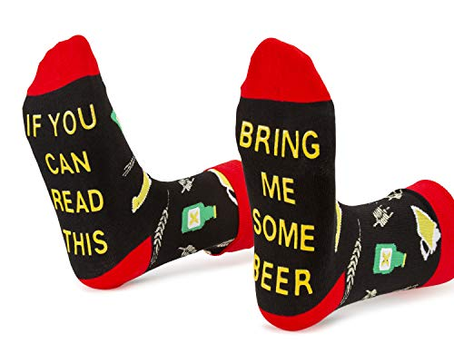 Bring Me Some Beer Socks Funny Birthday Gifts For Dad Perfect for Beer lovers, Husband, Father, Boyfriend, Best friend -