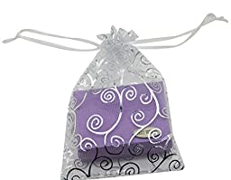 SUNGULF 100pcs Organza Pouch Bag Drawstring 4x6\