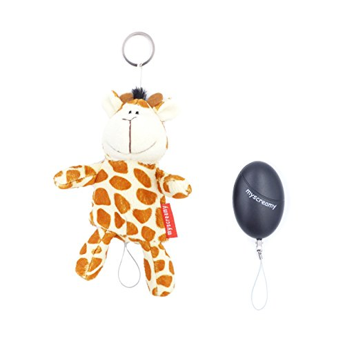 myscreamy | Guardian-Giraffe Keychain and Personal Alarm | Pocket Alarm...