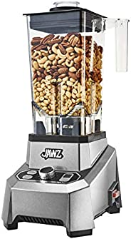 JAWZ High Performance Blender - Variable 10-Speed - Professional Grade Countertop Blender/Food Processor, 64 Oz, Silver