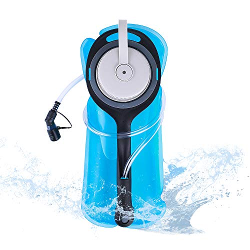PUNDA Upgrade Hydration Bladder, 2L Water Bladder BPA Free Military Class Leakproof Water Reservoir with Wide Opening Self-Locking Valve for Hiking Climbing Cycling Running and Any Outdoor Sports
