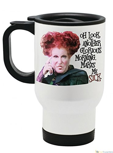 Original Hocus Pocus Oh Look, What a Glorious Morning Funny Novelty Halloween Mug (14 fl oz Travel Mug) -