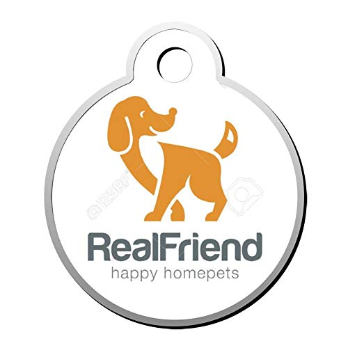 OSJHDFjd Dog Pet Carving Id Tag Personality Diversity Double-Sided Collar ()