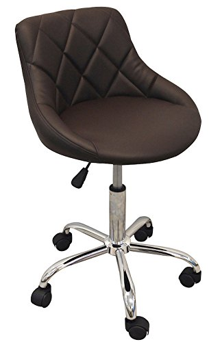 DevLon NorthWest Salon Nail Pedicure Manicure Medical Adjustable Swivel Rolling Stool Brown
