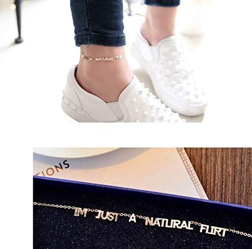 Wholesale Women do not Simply Fade Steel Foot Chain Anklet Ankle Bracelet Jewelry Black swan red Tide Roses jin xuesheng Fashion Orange Anklet